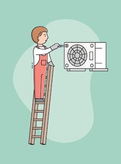 Concept de service d'appareils ménagers.