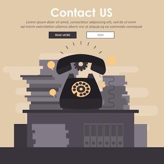 Concept de service client entreprise
