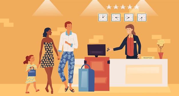 Concept de service hôtelier professionnel.