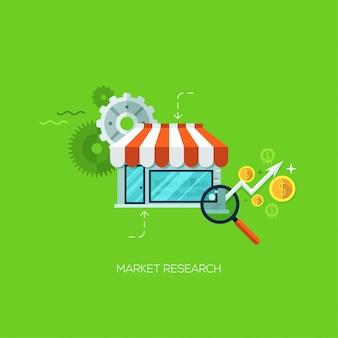 Concept de service en ligne de technologie infographie étude de marché