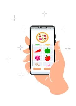 Concept de service de livraison sur internetle processus de commande de repas à domicile et au bureau