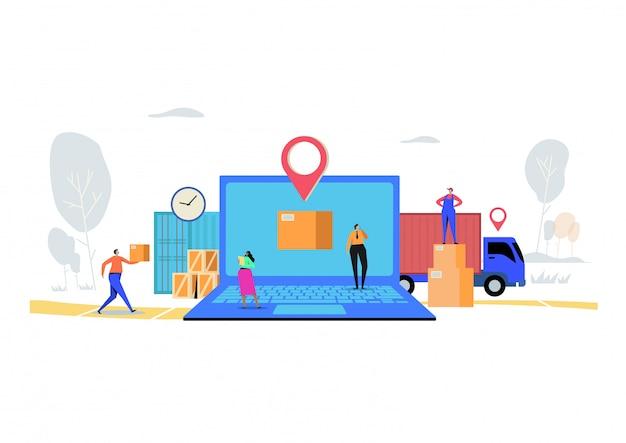 Concept de service de livraison en ligne.