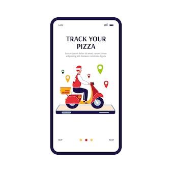 Concept d'un service de livraison de nourriture en ligne à l'adresse spécifiée