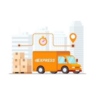 Concept de service de livraison rapide