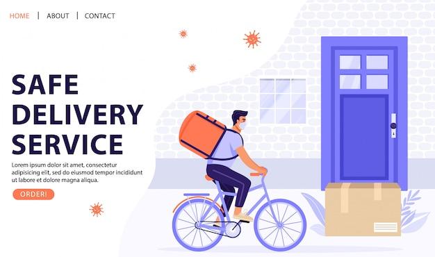 Concept de service de livraison sans contact.