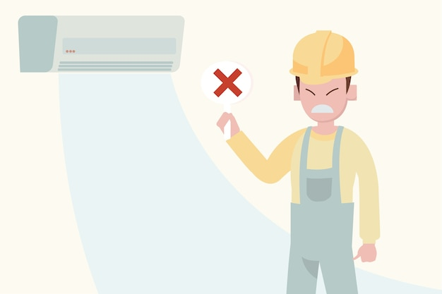 Concept de service de maintenance de climatiseur