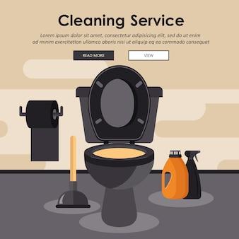 Concept de service de nettoyage d'équipement