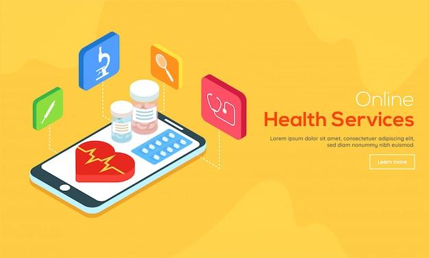 Concept de service de pharmacie en ligne.
