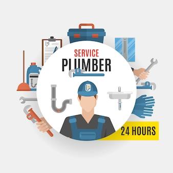 Concept de service de plombier