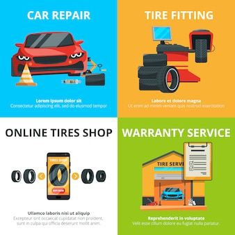Concept de service de pneus auto