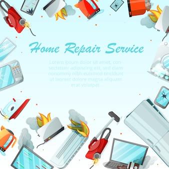 Concept de service de réparation d'appartement moderne