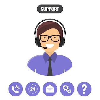 Concept de service de support client.