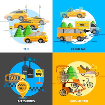 Concept de service de taxi