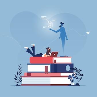 Concept de service de technologie numérique sans fil de l'éducation à la vapeur