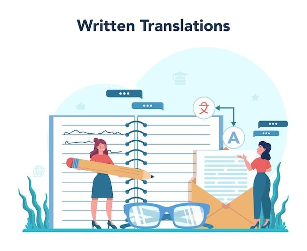 Concept de service de traducteur et de traduction
