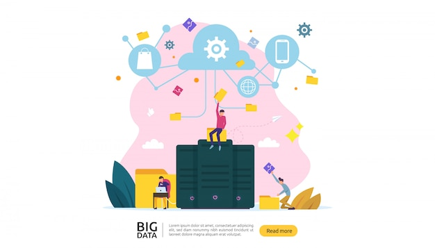 Concept de service de traitement d'analyse de base de données big data cloud