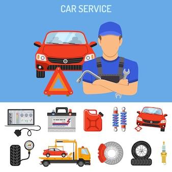 Concept de service de voiture