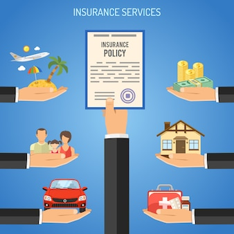 Concept de services d'assurance