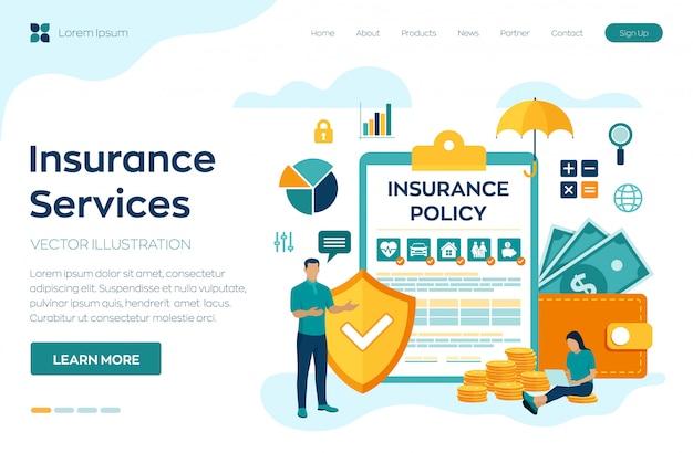Concept de services d'assurance.