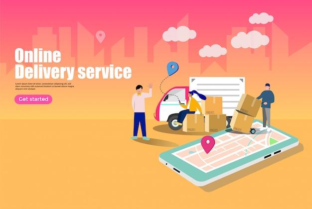 Concept de services de livraison en ligne