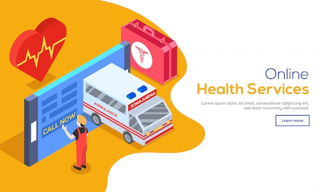 Concept de services de santé en ligne.