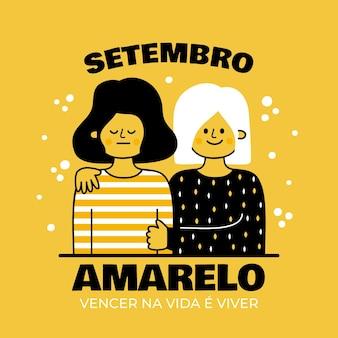 Concept de setembro amarelo