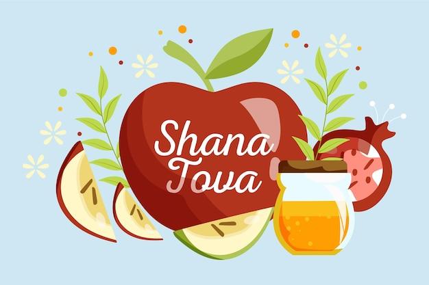Concept de shana tova dessiné à la main