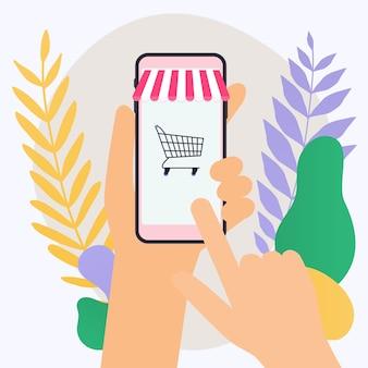 Concept shopping en ligne et e-commerce