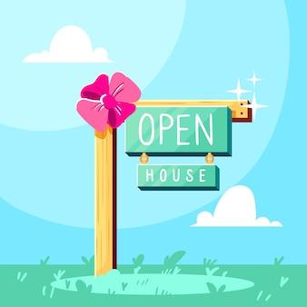 Concept de signe de journée portes ouvertes
