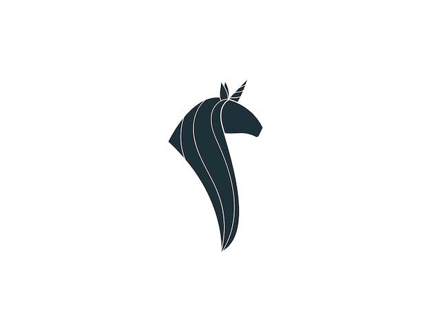 Concept de silhouette de licorne
