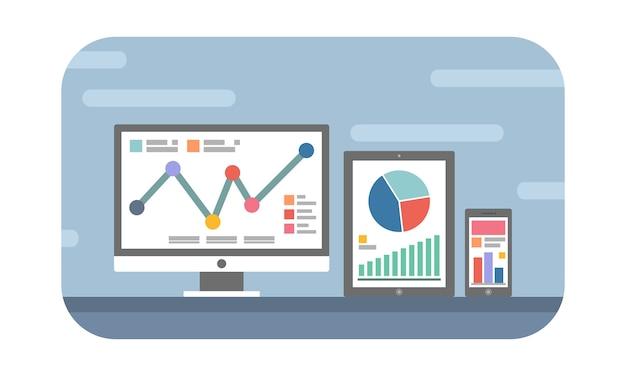 Concept de site web et d'analyse mobile