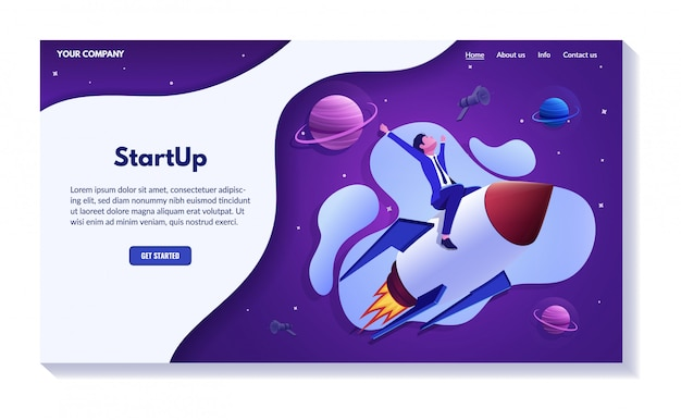 Concept de site web d'entreprise réussie, ensemble d'illustrations