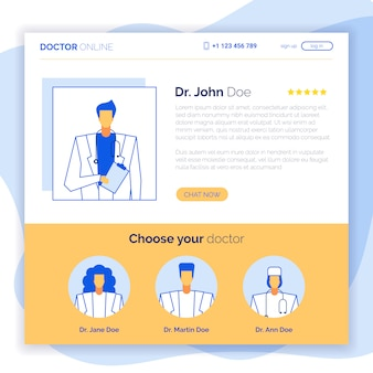 Concept de site web de médecin en ligne