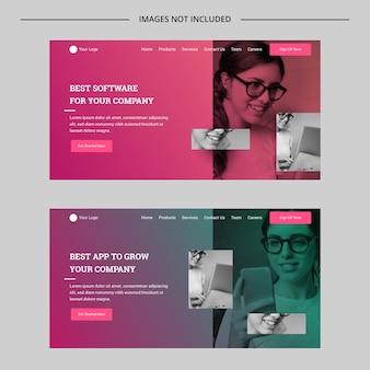 Concept de site web polyvalent dégradé moderne
