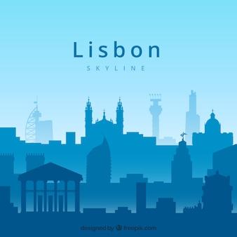 Concept de skyline de lisbonne