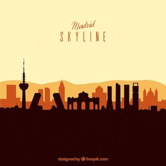 Concept de skyline de madrid