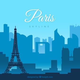 Concept de skyline de paris