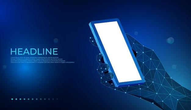 Concept de smartphone d'application de communication de téléphone portable