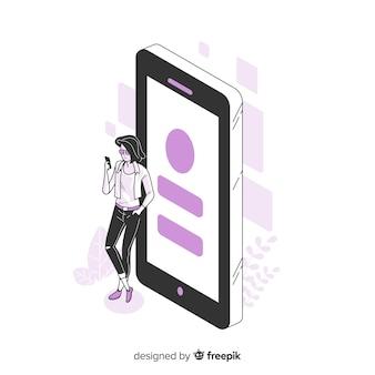 Concept de smartphone pour la page de destination