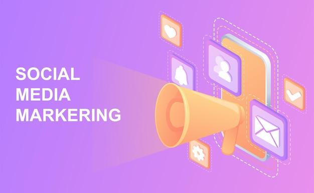 Concept smmstratégie marketing précisecommunication numériquecréation et diffusion de contenus