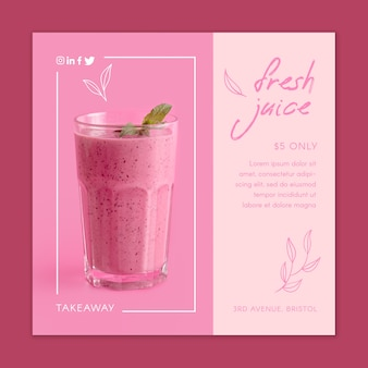 Concept de smoothie de jus de fruits frais