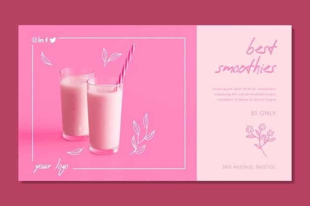 Concept de smoothie de jus de fruits frais