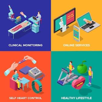 Concept de soins cardiaques isométrique