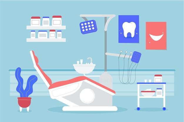 Concept de soins dentaires illustré