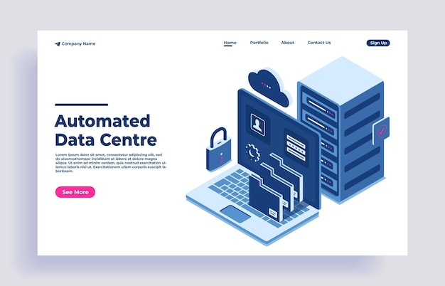 Concept de solution isométrique de centre de données intelligent automatisé