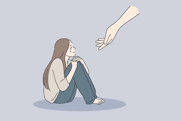 Concept de soutien psychologique de psychothérapie