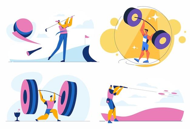 Concept sportif avec jeune athlète
