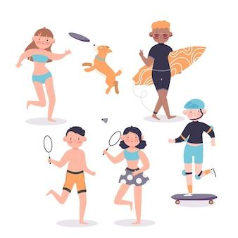 Concept de sports d'été illustré