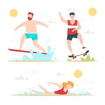 Concept de sports d'été