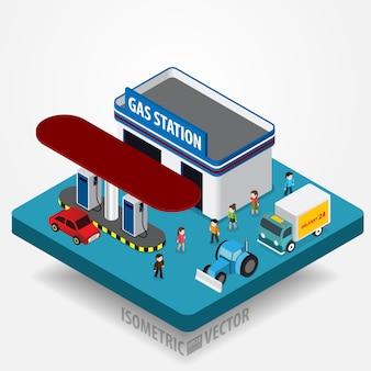Concept de station d'essence